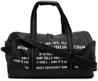 Diesel Slogan Printed Weekend Bag