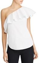 Lauren Ralph Lauren Ruffled One-Shoulder Top