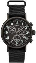 Timex Standard Chronograph Men's Black Fabric Strap Watch