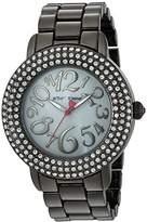 Betsey Johnson Women's Quartz Stainless Steel and Alloy Casual Watch, Color:Grey (Model: BJ00306-07)