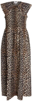 Ganni Leopard Maxi Dress