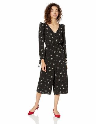 Ali & Jay Women's Flowers for Days Longsleeve Cropped Culotte Jumpsuit