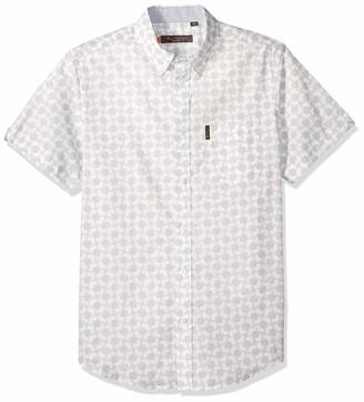 Ben Sherman Men's SS MOD GEO PRNT Shirt