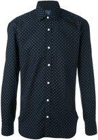 Barba geometric print shirt - men - Cotton - 38