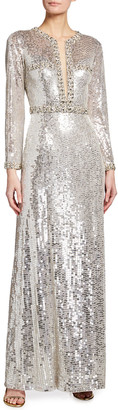 Alyssa Long-Sleeve Gown