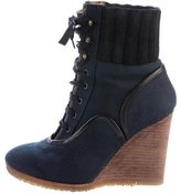 Chloé Lace-Up Wedge Ankle Boots