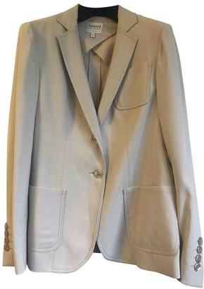 Armani Collezioni Ecru Wool Jacket for Women