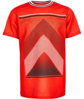 River Island Boys red mesh sports print t-shirt