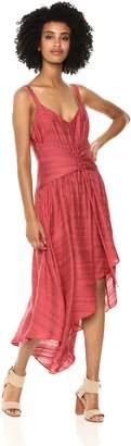 BCBGMAXAZRIA Azria Women's Sleeveless Lace-Up Asymmetrical Dress