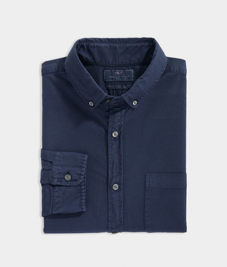 Vineyard Vines Slim Fit Garment Dyed Pinpoint Oxford Murray Shirt