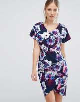 Paper Dolls Floral Printed Pencil Dress