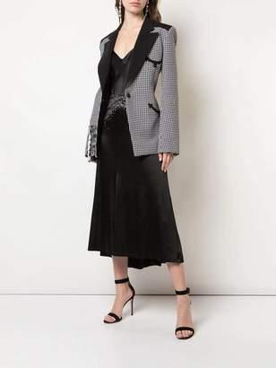 Paco Rabanne black shimmering crystal skirt