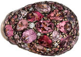 John Hardy 18K Pink Tourmaline & Diamond Bombe Ring