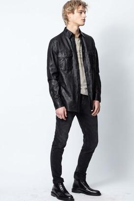 Zadig & Voltaire Taskah Crinkle Leather Shirt