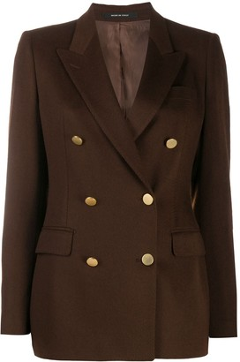 Tagliatore Long-Sleeved Double Buttoned Jacket