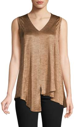 Lord & Taylor Asymmetrical Sleeveless Tank Top