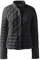 Lands' End Women's Petite Lightweight Down Packable Jacket-Jet Black
