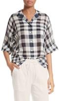 Theory Women's Ralfinn Plaid Cotton Shirt
