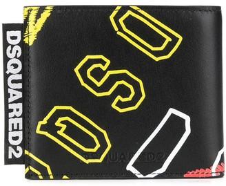 DSQUARED2 Logo Print Bi-Fold Wallet