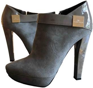 Elisabetta Franchi Grey Suede Ankle boots