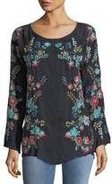 Johnny Was Kikimu Embroidered Georgette Blouse