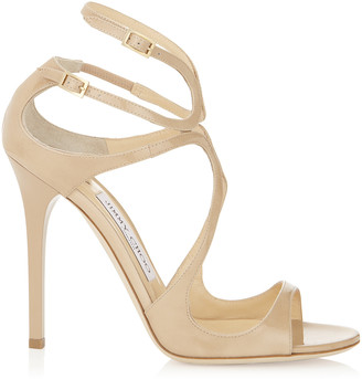 Jimmy Choo LANCE Nude Patent Leather Sandals