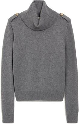 Mulberry Raina Cowl Neck Jumper Charcoal Winter Wool