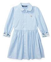 Ralph Lauren 2-6X Cotton Oxford Shirtdress