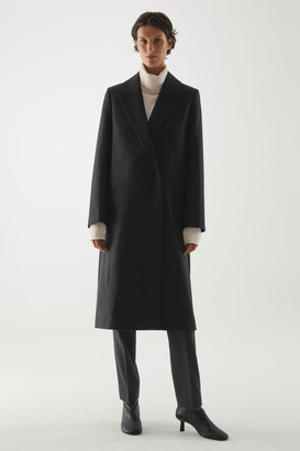Cos Wool-Mix Oversized Lapel Long Coat