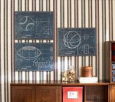 Pottery Barn Kids Sports Blueprint Art