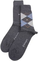 Burlington Anthracite//Light Denim Everyday Mix 2 Pack Socks