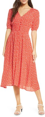 Fraiche by J Kado Floral Midi Dress