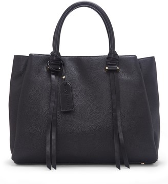 Sole Society Women's Eban Satchel Vegan Leather In Color: Black Bag From