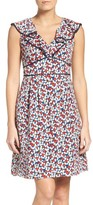 Adrianna Papell Women's Floral Ruffle Dress