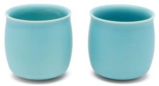 Raawii - Set Of Two Alev Medium Ceramic Cups - Light Blue