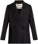 Acne Studios Jara double-breasted pinstriped wool jacket