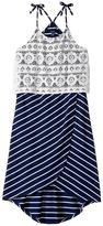 Tommy Hilfiger Yarn-Dye Tulip Crochet Overlay Dress Girl's Dress