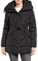 MICHAEL Michael Kors Women's Faux Fur Trim Belted Down & Feather Fill Parka