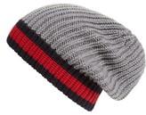 Gucci Men's Stripe Wool Beanie - Black