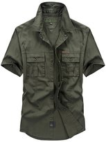 S-7 Men's Purified Cotton Short Sleeves Shirt