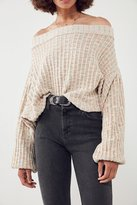 Ecote Colby Oversized Off-The-Shoulder Ribbed Sweater