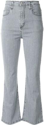 Nobody Denim Belle striped crop flare jeans