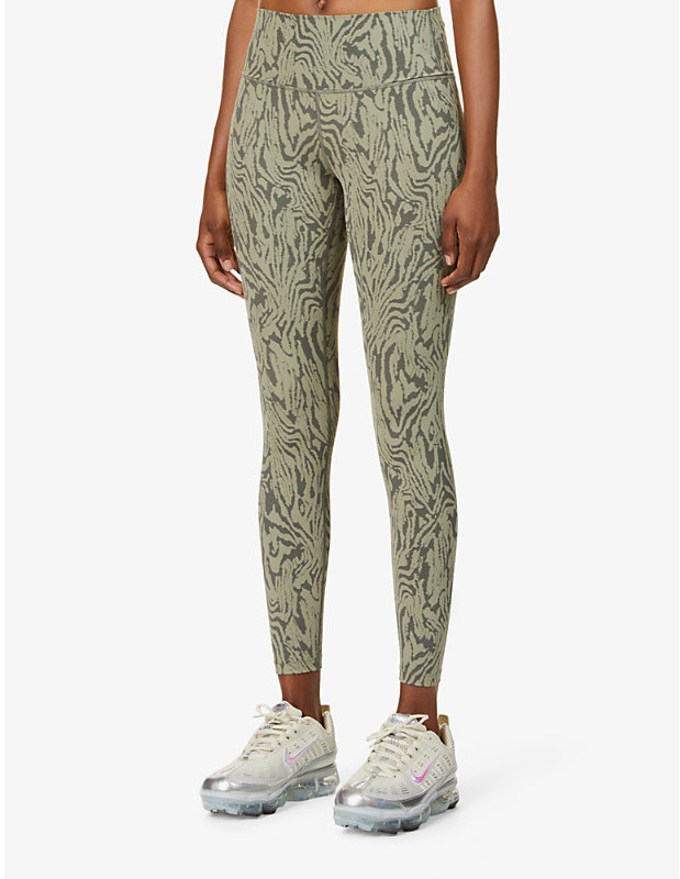 Varley Luna abstract-print high-rise stretch-jersey leggings