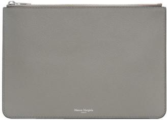 Maison Margiela SSENSE Exclusive Grey Classic Leather Pouch
