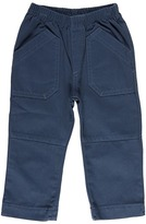 Charlie Rocket Pull On Twill Patch Front Pocket Pant (Infant/Toddler) (Cadet) - Apparel