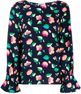 Essentiel Antwerp flared floral pattern blouse