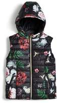 GUESS Girl's Floral Padded Vest (7-16)