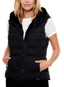 Be Boundless Women's Water-Resistant Freeform Knit Reversible Faux Fur Vest