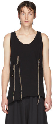 Sulvam Black Darts Tank Top