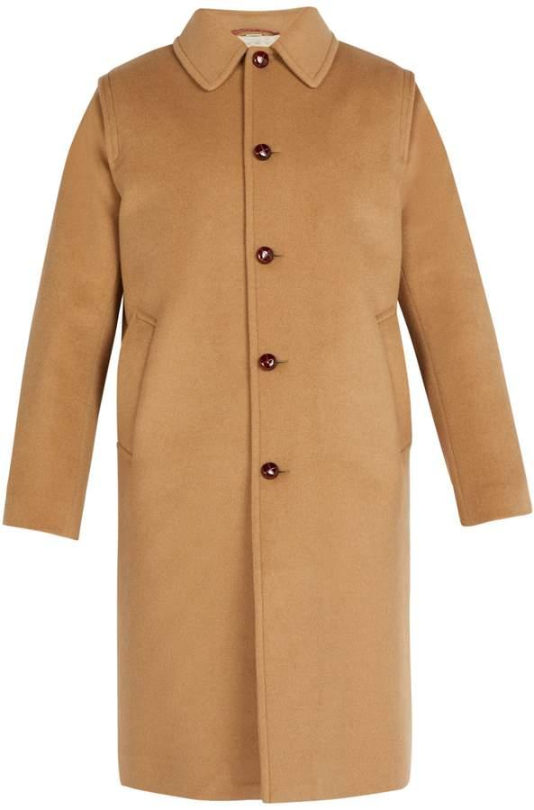 Gucci Embroidered felt overcoat